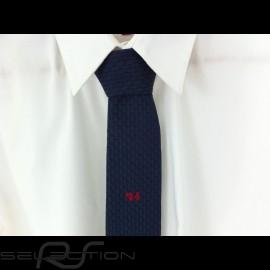 Alain Figaret  24 h du Mans dünne Krawatte marineblau