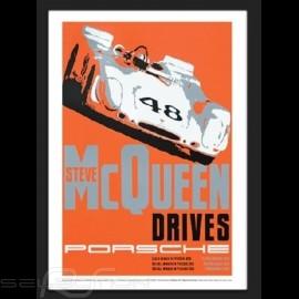 Steve McQueen Porsche Sebring Wiedergabe einer originale Plakat von Nicolas Hunziker