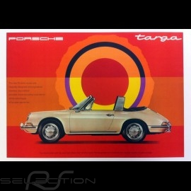 Porsche Poster 911 Targa 1967 The new Porsche model