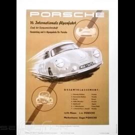 Porsche Poster Internationale Alpenfahrt 1953 originale Plakat von Erich Strenger
