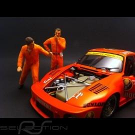Set Figuren Diorama 2 Mechaniker in orange 1/18 AS180137