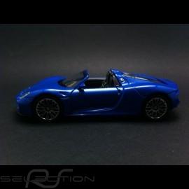 Porsche 918 Spyder Spielzeug Reibung Welly blau