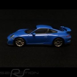 Porsche 991 GT3 voodooblau 1/43 Minichamps CA04316084