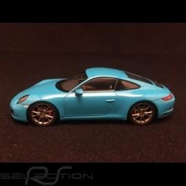 Porsche 991 Carrera S 2016 blau 1/43 Spark S4937
