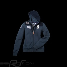 Jacke Sweatshirt Hoodie Martini Racing marineblau Damen Porsche Design WAP554