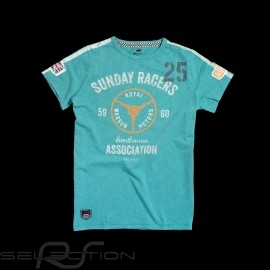 Herren T-shirt Sunday Racers turquoise türkis blau