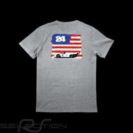 T-shirt Porsche amerikanische Flagge grau Porsche design WAP982 - Herren
