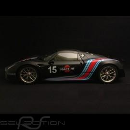 Porsche 918 Spyder Weissach pack Martini matt schwarz 1/12 GT SPIRIT ZM084