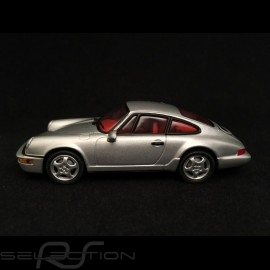 Porsche 911 type 964 Carrera 2 1989 silbergrau 1/43 Minichamps WAP02003497