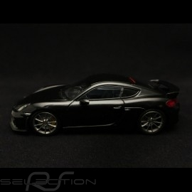 Porsche Cayman GT4 2016 metallic black 1/43 Minichamps 410066121