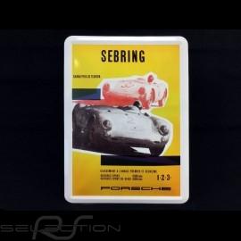 Postkarte Porsche aus Metall mit Umschlag Porsche 550 Sebring Florida