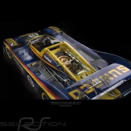 Plakat Porsche 917 Can-Am Drückplatte auf Plexiglass  40 x 60 cm Peter Haroldt