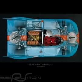 Plakat Porsche 908 Drückplatte auf Plexiglass  40 x 60 cm Peter Harholdt
