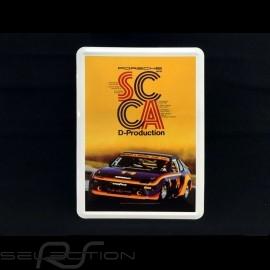 Postkarte Porsche aus Metall mit Umschlag Porsche 924 winner SCCA D-Production