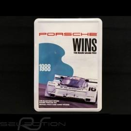 Postkarte Porsche aus Metall mit Umschlag Porsche 962 Sieger 1988