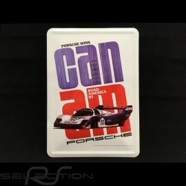 Postkarte Porsche aus Metall mit Umschlag Porsche 956 Can-Am 1983