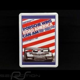 Postkarte Porsche aus Metall mit Umschlag Porsche 917 Donohue Road America