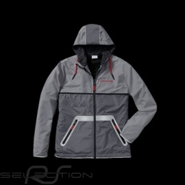 Porsche Jacke Windbreaker Racing Collection grau schwarz rot WAP454  - unisex