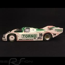 Porsche 962 C 3ème 3rd Platz 3 1000 km Mugello 1985 n° 19 Brun Motorport Torno 1/18 Norev 187408