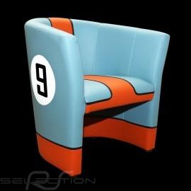 Cabrio Stuhl Racing Inside n° 9 GT team blau / orange