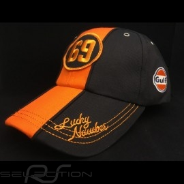 Cap Gulf Vintage 69 Lucky Number schwarz / orange - Herren