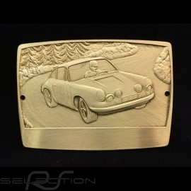 GrillBadge Porsche 911 n° 6 graviert Metall Farbe gold