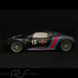 Porsche 918 Spyder Weissach 2015 Martini schwarz 1/18 Autoart 77929