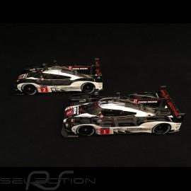 Duo Porsche 919 Hybrid - HY LMP1 Le Mans 2016 finish line 1/43 Spark MAP02031616 MAP02087816