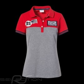 Polo Porsche Martini Racing Collection rot grau Porsche Design WAP921J - Damen