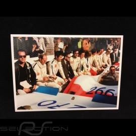 Postkarte Targa Florio 1969 : Ferry Porsche im Gespräch mit den Rennfahrern 10x15 cm