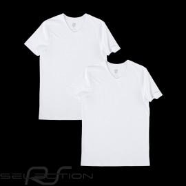 T-shirt Porsche Essential Collection basic weiß- set von 2 Porsche Design WAP820F - Herren