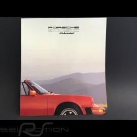 Porsche Broschüre 911 SC Cabriolet in Englisch