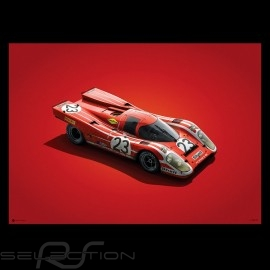 Porsche Poster 917 K Sieger 24h Le Mans 1970 Salzburg n°23