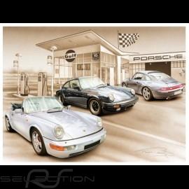 Porsche Poster 911 SC air évolution 1977-1998 François Bruère - N127