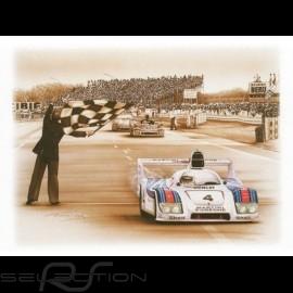 Porsche Poster 936 Sieger Le Mans 1977 n° 4 François Bruère - N69