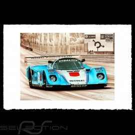 Porsche Poster 962 C Le Mans 1990 n° 63 Nisseki François Bruère - VA125