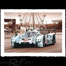 Porsche Poster 919 Hybrid Le Mans 2014 n° 20 François Bruère - VA133