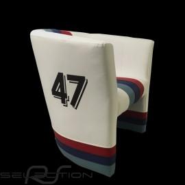 Cabrio Stuhl Racing Inside n° 47 weiß / Motorsport Streifen