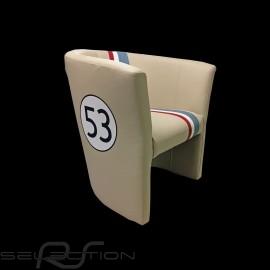 Tubstuhl Racing Inside n° 53 Herbie off-white / tricolor Streife