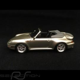 Porsche 911 type 993 Turbo Cabriolet silbergrau metallic 1/43 Schuco 450887900