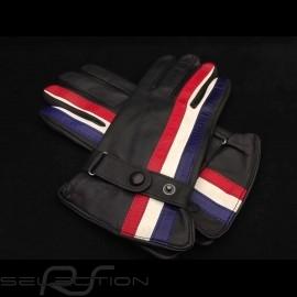 Fahren Handschuhe Gulf  Racing schwarz Leder