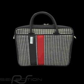 Laptop / Komputer Tasche 911 classic Hahnentritt / vinyl Basketweave