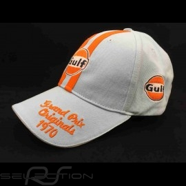 Cap Gulf Vintage Grand Prix 1970 gulfblau/ orange