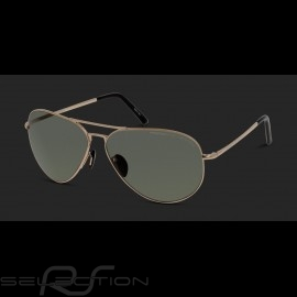 Porsche Sonnenbrille Goldfarben / grün polarisierte Gläser Porsche Design P'8508-A - Unisex