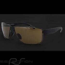 Porsche Sonnenbrille schwarz / braun Gläser Porsche Design P'8509-A - Unisex
