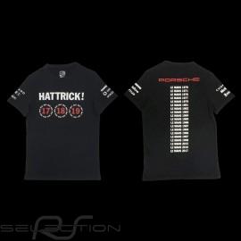 T-shirt Porsche 919 Hattrick Le Mans 2015 2016 2017 schwarz Porsche Design WAP181 - Herren
