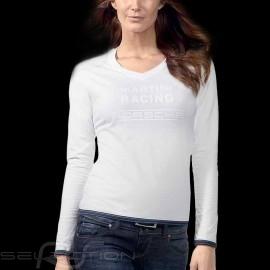 Porsche T-shirt Martini Racing Collection lange Ärmel weiß Porsche Design WAP672 - Damen