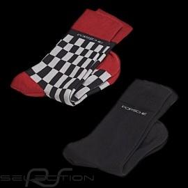 Porsche Socken Doppelpack grau rot schwarz Porsche WAP423 / WAP424 - Unisex