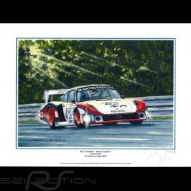 "Porsche Poster 935 n° 43 Martini 24h du Mans 1978 "" Moby Dick "" 30 x 40"