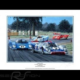 Porsche Poster 917 K n° 3 Martini Sieger 12h de Sebring 1971 30 x 40